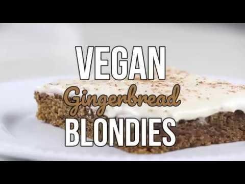 Vegan Whole Wheat Gingerbread Blondies