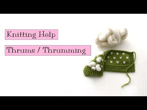 Knitting Help - Thrums / Thrumming