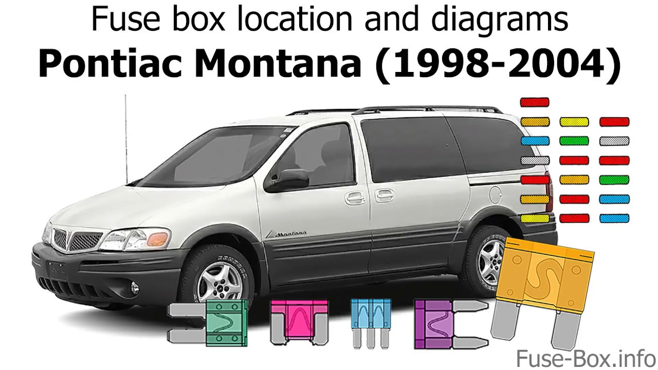 fuse box location and diagrams: pontiac montana (1998-2004)