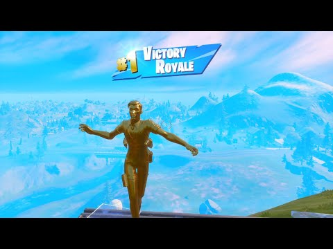 """FORTNITE First Win With 100% GOLD """"MIDAS"""" SKIN (TIER 100 OUTFIT) 