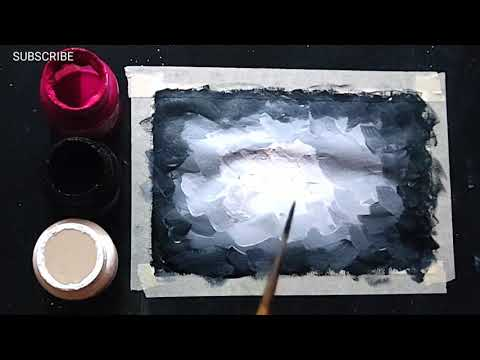 Simple Poster Colours Painting for Beginners Easy Steps