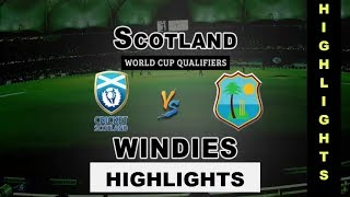 Short Highlights West indies VS Scotland Match || wcc2 Gameplay Video