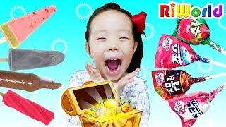 사탕이 아이스크림으로 바뀐다!! 리원이의 마법의 상자 놀이 l Funny candy ice-cream play