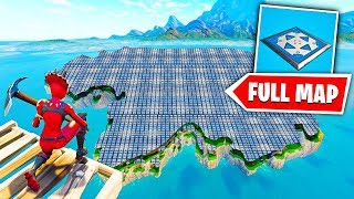 COVERING THE ENTIRE MAP IN BOUNCE PADS! (Fortnite Funny Moments)