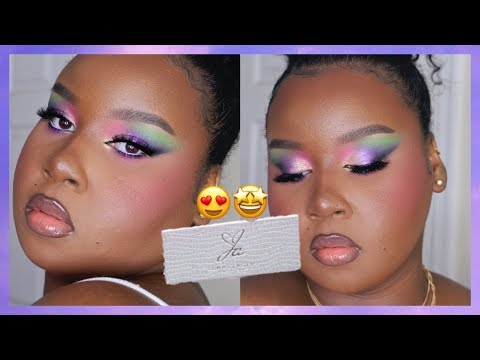 Colorful Glam Makeup Tutorial | Using Jackie Aina x ABH Palette! thumbnail