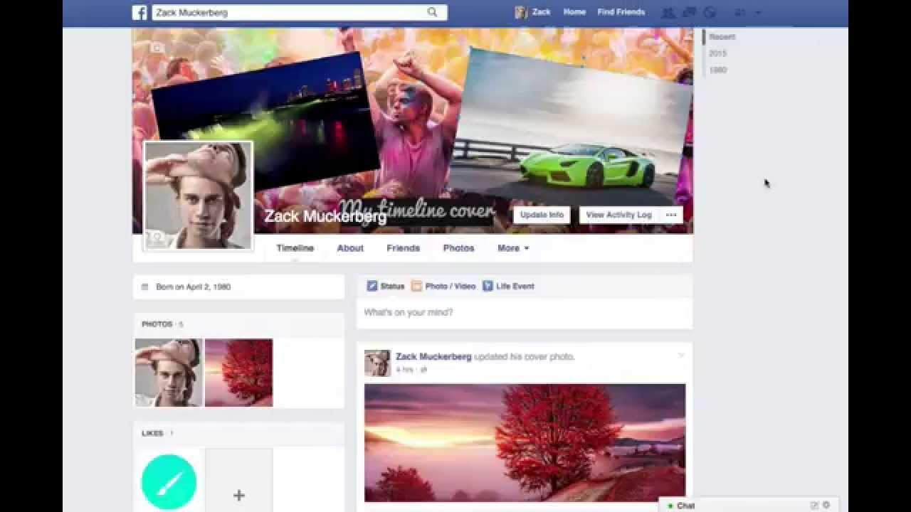 how to make a facebook cover photo collage
