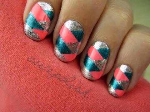 braided nail art
