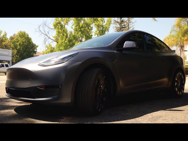 Tesla Model Y Matte Paint Protection Film Install Time Lapse by Ghost Shield Film in Thousand Oaks