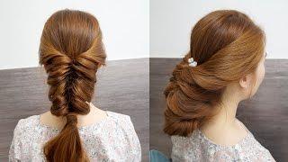 고무줄만 있으면 할 수 있는 두가지 헤어스타일 묶는법 / Fishtail Braids
