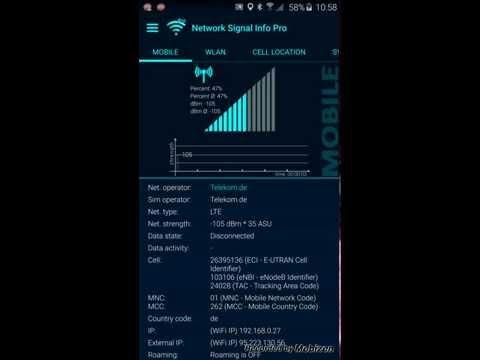 Network Signal Info Pro, Version 3.x