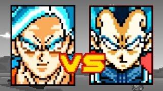 SSGSS GOKU VS SSGSS VEGETA - Dragon Ball Z Devolution - Part 4