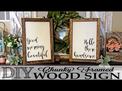 DIY Chunky Framed Wood Signs