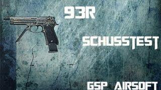 Beretta M93R Softair Schusstest (GsP Airsoft) GERMAN