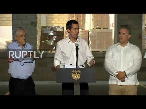 Colombia: Guaido says Venezuelan military helped him cross the border