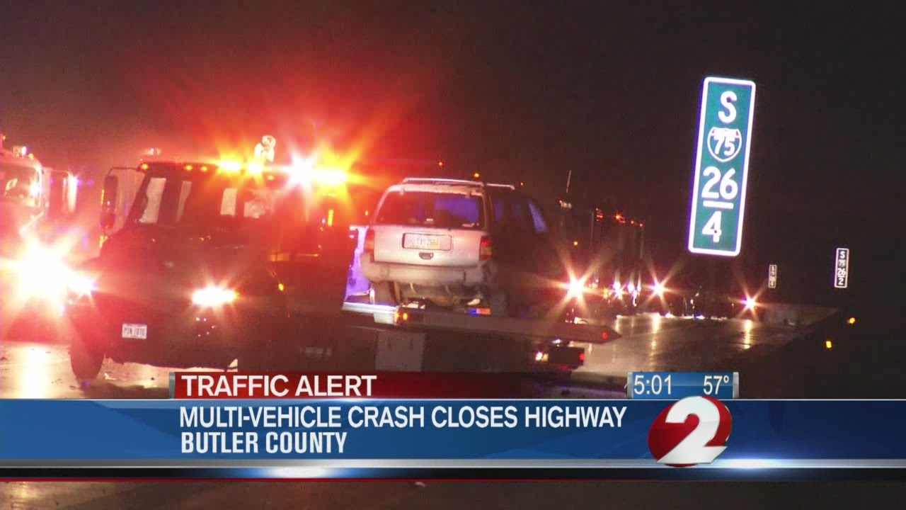 Accident slows traffic in Butler County