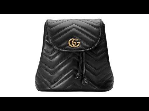 1aee61010 Gucci's Latest GG Marmont Backpack Simply Exudes Elegance - YouTube
