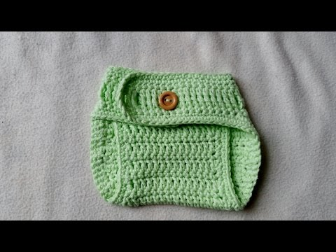 Crochet Diaper Cover For Newborn Babies With Subtitles By