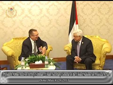 President Abbas receives Jeffrey Feltman  Under Secretary General of the United Nations for Politica