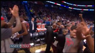 all star game 2017 bench reaction durant westbrook