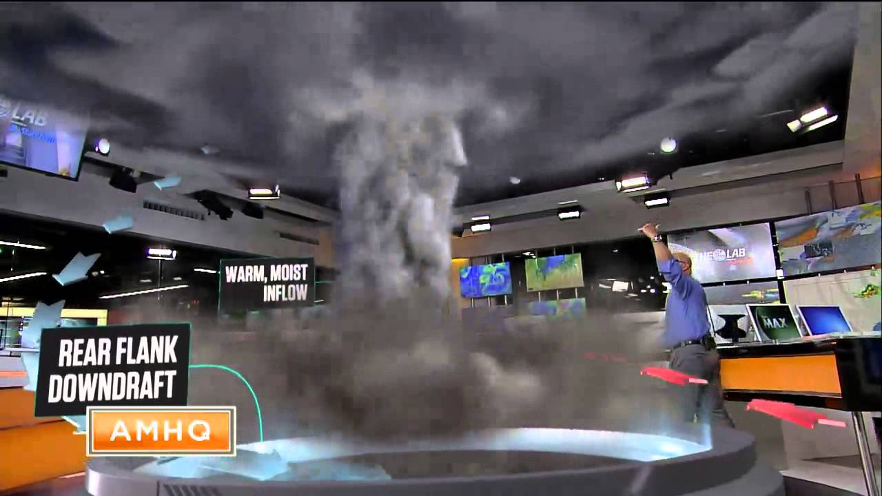 Watch Jim Cantore totally own this 3-D tornado in Weather Channel's