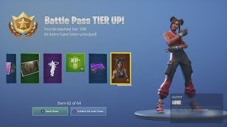 Spending 12,000 V-Bucks *UNLOCKING* TIER 100 LEGEND 'LUXE' (Fortnite FULL Battlepass Unlock)