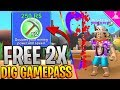 FREE 2X DIG GAMEPASS IN ROBLOX MINING SIMULATOR! - MEGASALE- Day 1