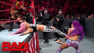 Gambar cover Sasha Banks, Bayley & Ember Moon vs. The Riott Squad: Raw, Dec. 31, 2018