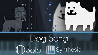 Dog Song [Extended] - Undertale OST - |SOLO PIANO COVER| -- Synthesia HD