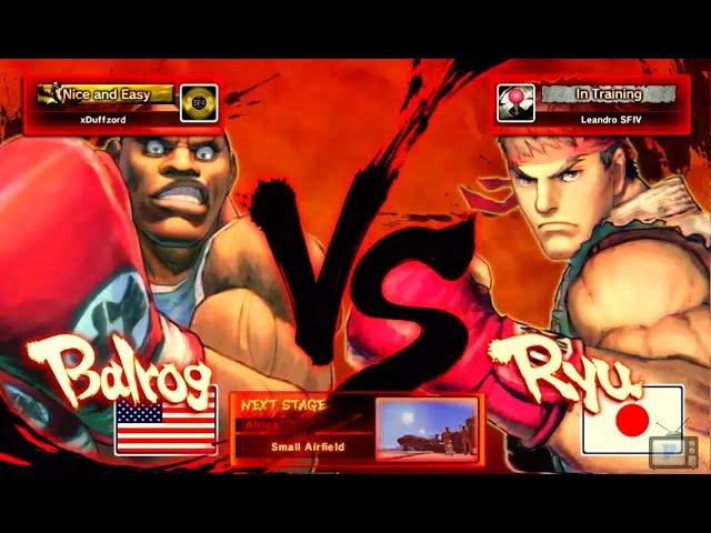 Luta na Live - Balrog VS Ryu