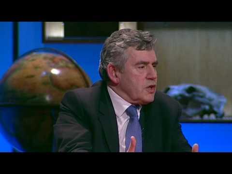Gordon Brown on global ethic vs. national interest
