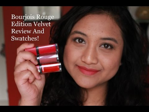bourjois-rouge-edition-velvet---review-and-swatches!-hot-pepper,-ole-flamingo-and-nude-ist