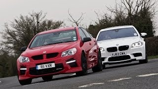 Battle of the super-saloons - Vauxhall VXR8 takes on the BMW M5