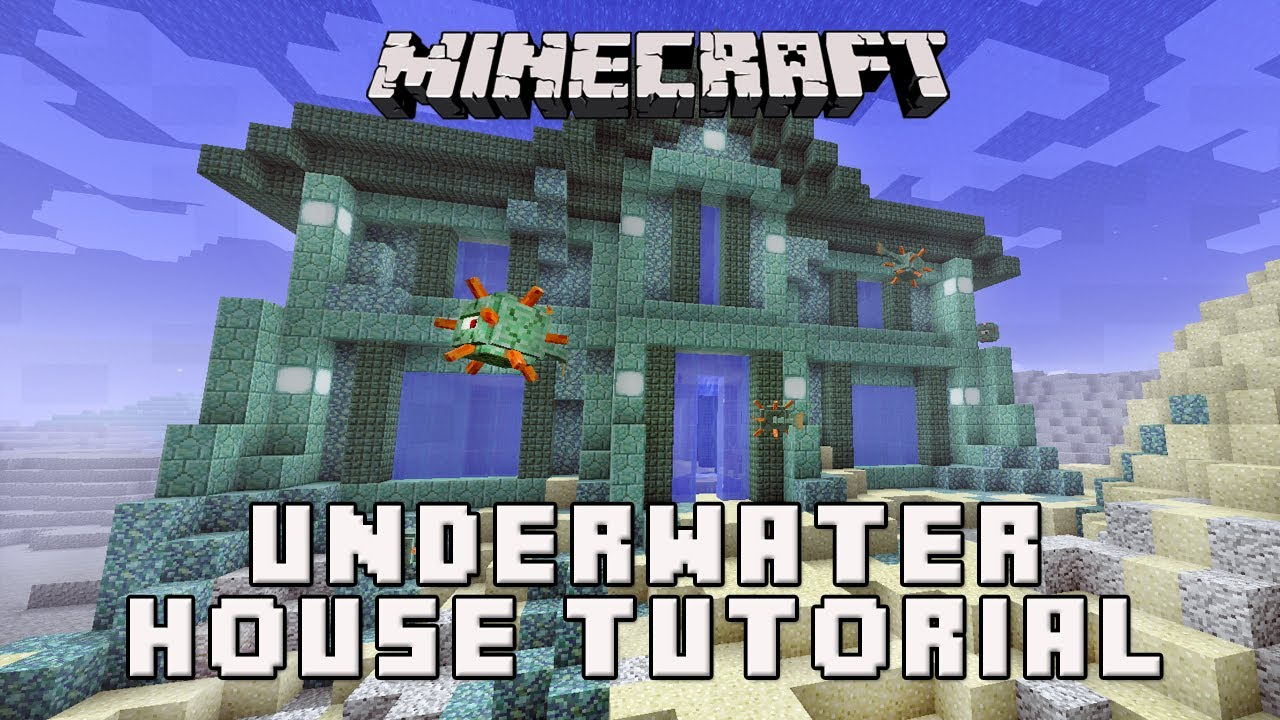 Minecraft How To Make A House Underwater Coral House