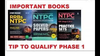RRB ntpc 2109 || tips to qualify phase 1 | important books | exam pattern