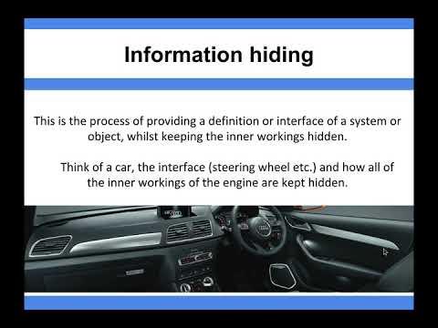 Algorithms - Information hiding