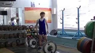 Шумихин Артур, 10 лет, св 28 3 Рывок 22 кг х 2р  Личный рекорд на 2 раза!