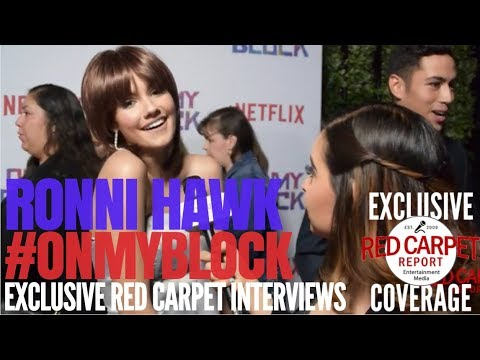 """Ronni Hawk interviewed at Premiere of Netflix's coming of age comedy """"On My Block"""" #OnMyBlock"""