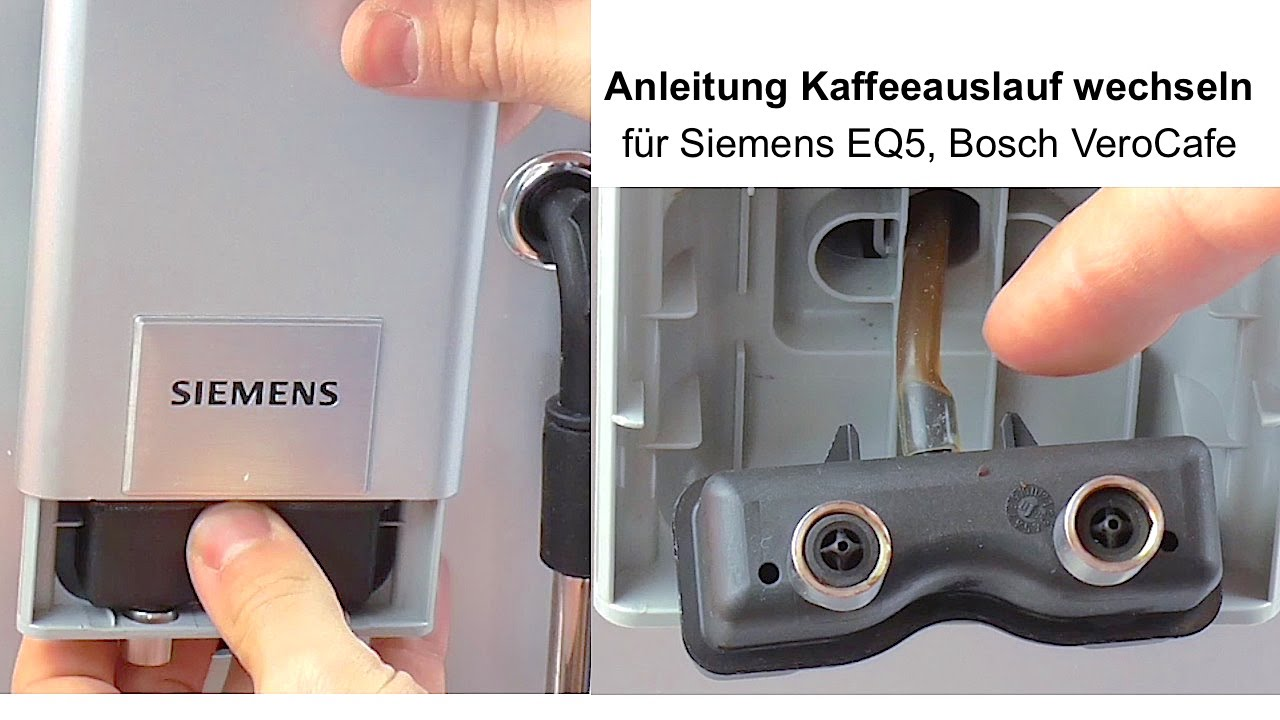 How to remove Siemens EQ5 Bosch VeroCafe coffee nozzle