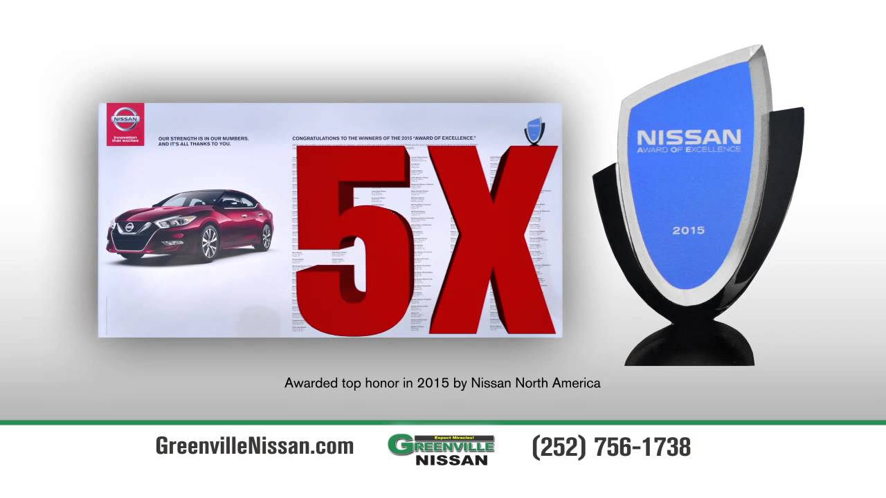 Greenville Nissan Nissan Award Of Excellence 2015 Youtube