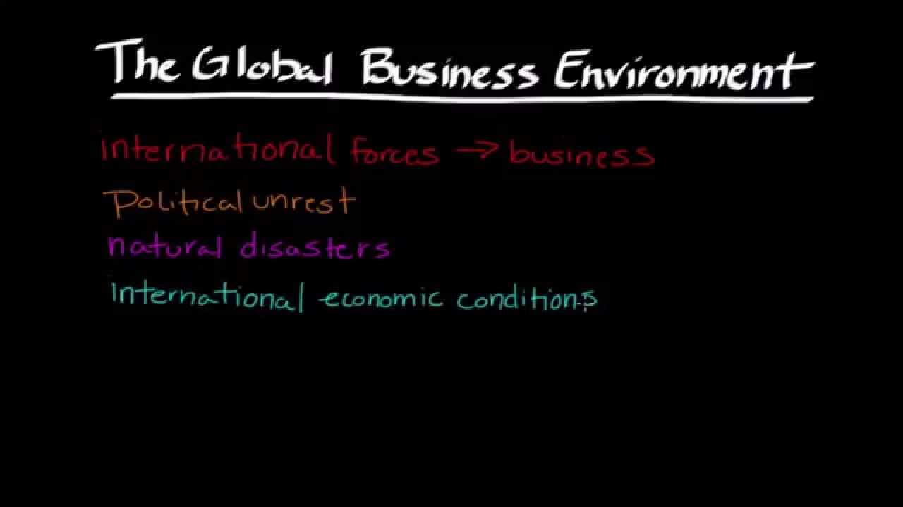 A paper on the global business environment