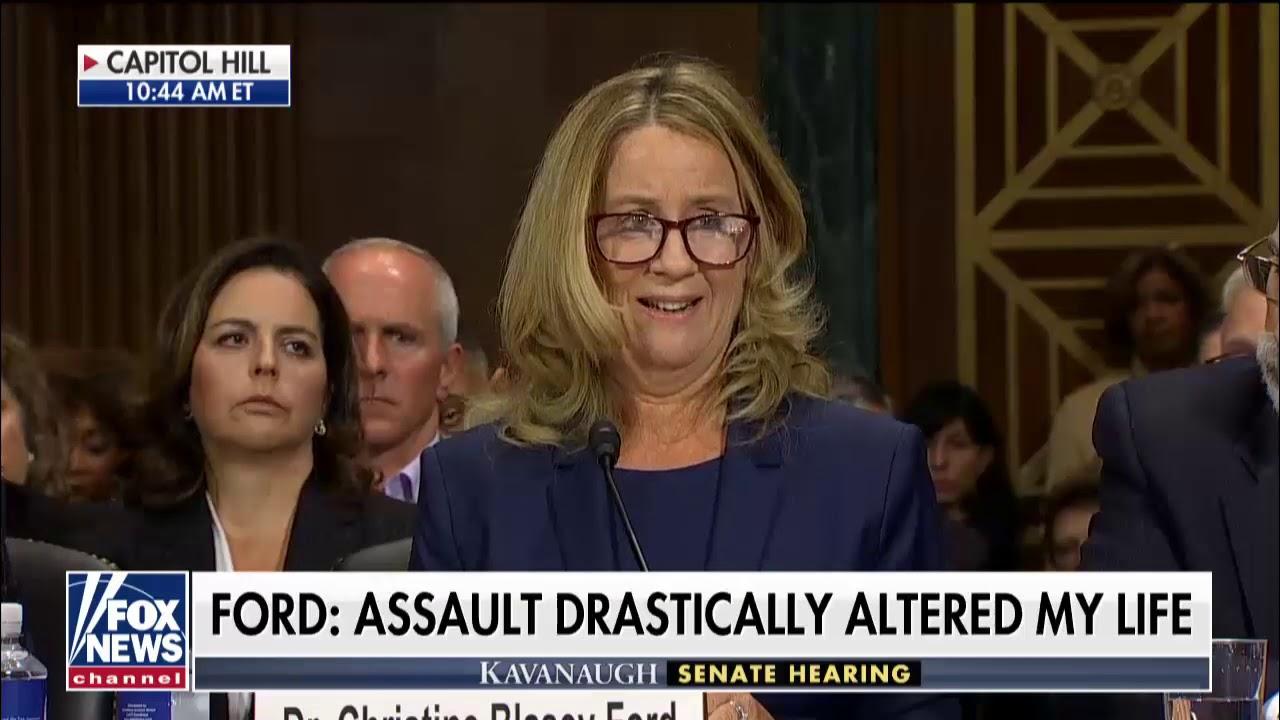 Kavanaugh Accuser Ford Testifies Before Senate: 'I Believed He Was Going to Rape Me'