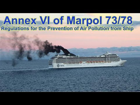 Regulations For The Prevention Of Air Pollution From Ship - Annex VI Of Marpol 73/78
