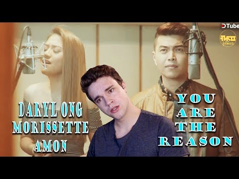 You Are The Reason - Cover By Daryl Ong & Morissette Amon *REACTION*