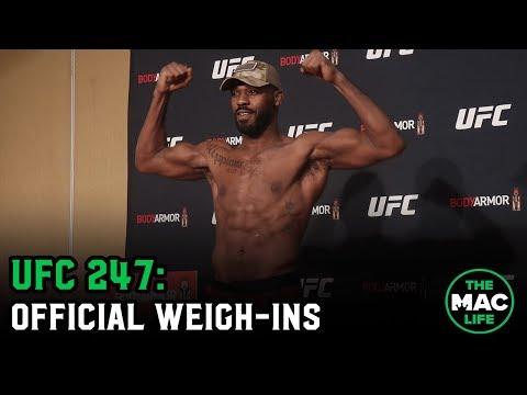 UFC 247 Official Weigh-ins: Main Card