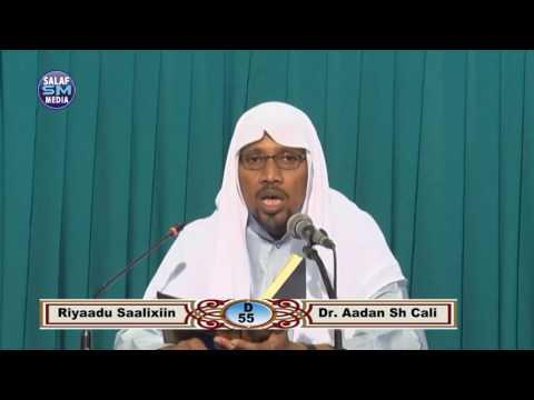 Riyaadu Saalixiin D 55 aad || Dr Aadan Sh Ali