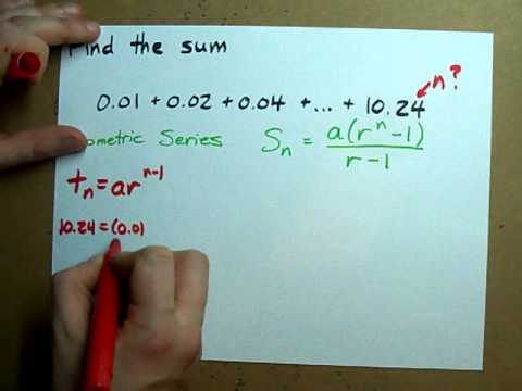Geometric Series (How to Find the Sum of a Sequence)