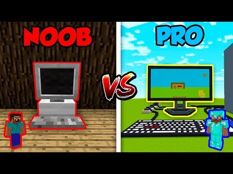 Minecraft NOOB Vs. PRO: COMPUTER In Minecraft!