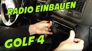 USB Autoradio VW Golf 4 1-DIN ARS24.COM EINBAU-TUTORIAL