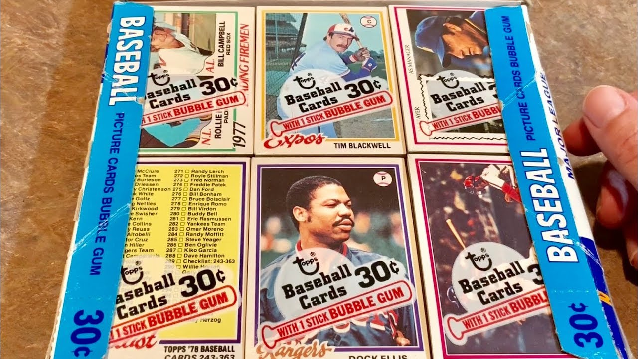 1978 Topps Baseball Card Box Opening Throwback Thursday