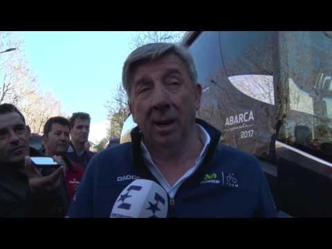 Eusebio Unzue comenta la decision de los comisarios en la Volta a Catalunya 2017